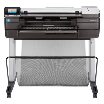 "HP Designjet T830 Inkjet Large Format Printer - 24"" Print Width - Color Printer, Copier, Scanner - 4 Color(s) - 26 Second Color Speed - 2400 x 1200 dpi - USB - Ethernet - Sheetfed - Color Scan - Sheetfed - Color Copy - Roll Paper, Cut Sheet, Bond Paper, Coated Paper, Heavyweight Paper, Recycled Paper, Plain Paper, Bright White Inkjet Paper, Technical Paper, Tracing Paper, Vellum, ... - 23.40"", 10.98"", 8.27"", 12.99"" x 33.10"", 24.02"", 10.98"", 18.98"" - Desktop Supported"